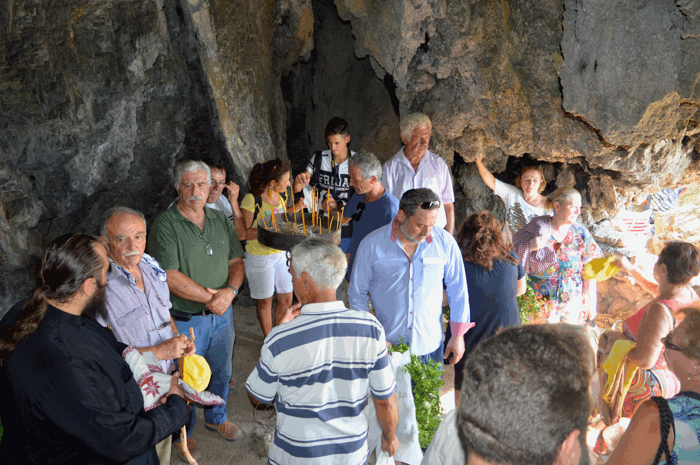 Service in the cave