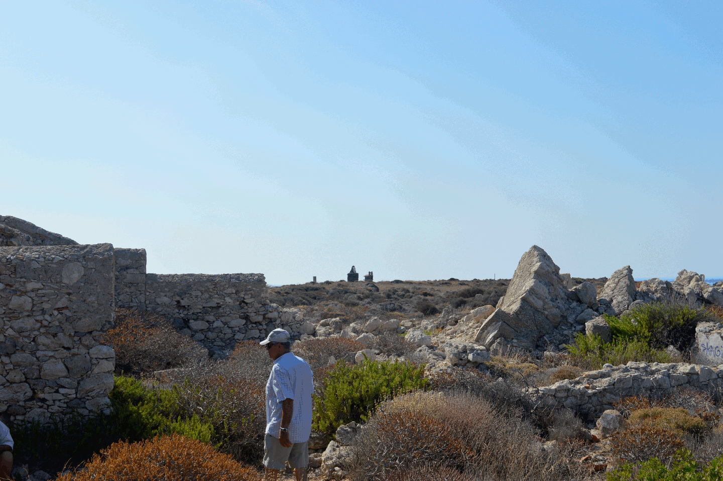 The ruins of the old lighthouse