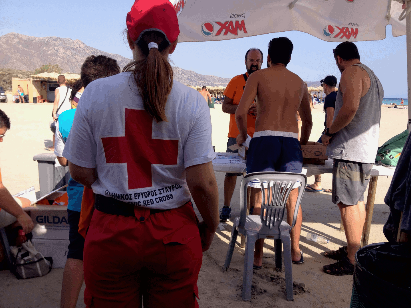 Red cross in the house