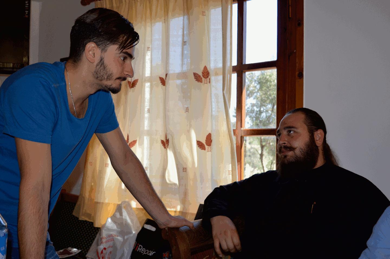 Papa Lefteris with Vasilis Makrakis