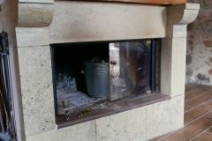 Villa Tzitzifia fireplace